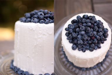 Real bluberry<br />Cake