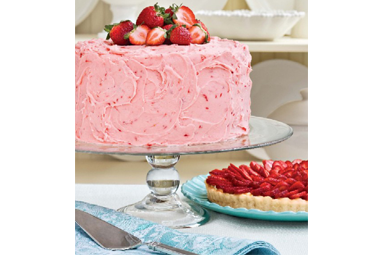 Real strawberry<br />Cake